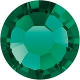 Preciosa Rivets silver - Emerald 50730 (SS18)_