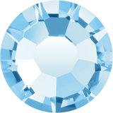 Preciosa Rivets silver - Aquamarine 60000 (SS29 - SS34)_