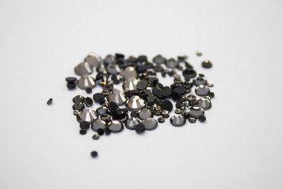 Premium DMC hotfix steentjes - Black Diamond (SS6 - SS20)