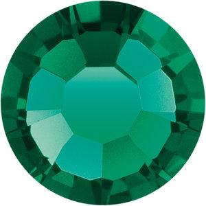 Preciosa Rivets silver - Emerald 50730 (SS18)
